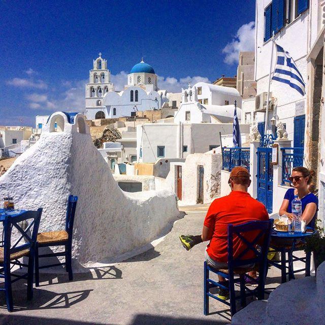 Penelope's restaurant in Pyrgos, Santorini, Greece