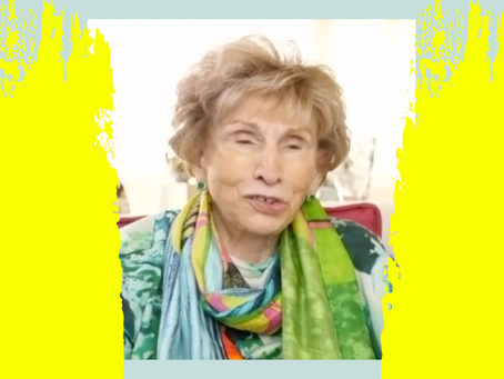 How you can see the gift in everything.- Interview with Holocaust survivor Dr. Edith Eger