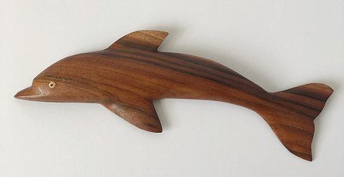 Pitcairn Island Hand Carved Dolphin