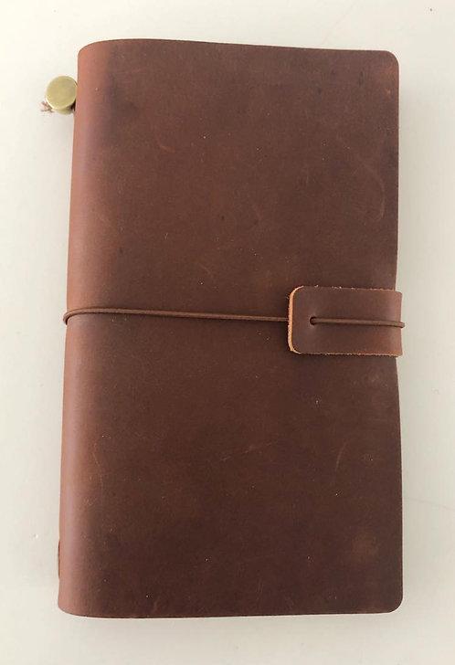 Leather Journal Medium Tan Brown
