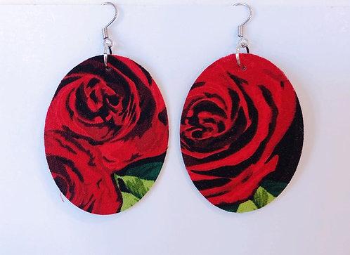 Skull Rose Earrings