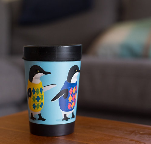 cuppa coffee cup trendy penguin