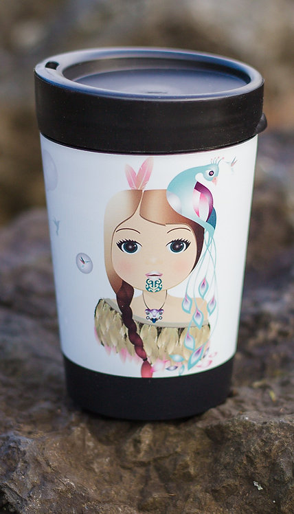 cuppa coffee cup little warrior girl