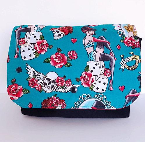 Messenger Handbag (with adjustable strap) Lucky Girl