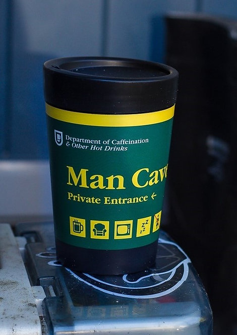 cuppa coffee cup man cave