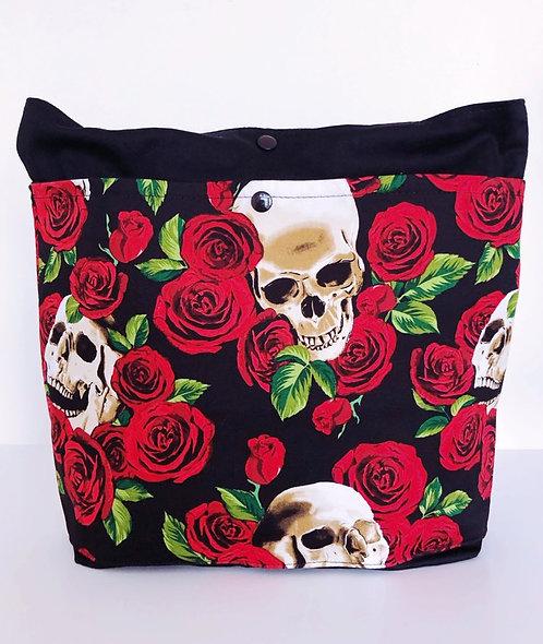 Tote Bag Skull Rose