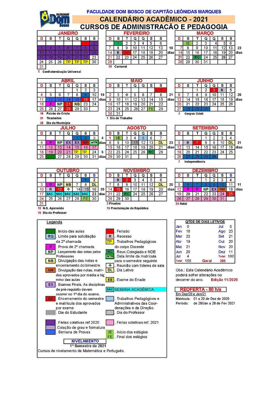 Calendario Academico Cap Leo Marques 202