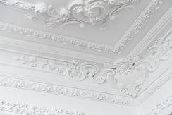 Beautiful ornate white decorative plaste