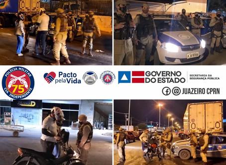 75ªCIPM - REALIZA MAIS UM DIA DA OPERAÇÃO MERCADO SEGURO EM JUAZEIRO - BA