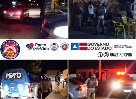 75ªCIPM - Realiza Operação Margem Segura, em conjunto  com a 4ª Cia/BPRv. em Juazeiro - BA