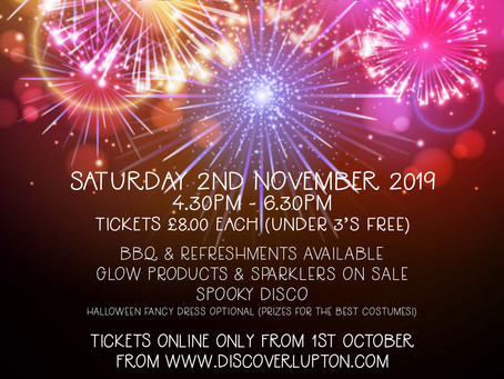 FROGs Fireworks night at Lupton House