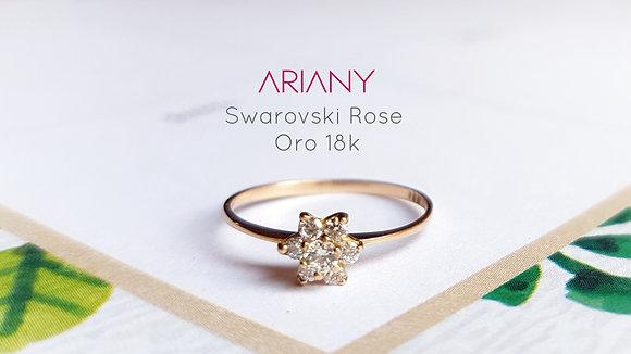 Anillo Swarovski Rose - Oro 18k