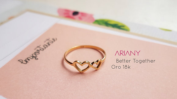 Anillo Better Together - Oro 18k
