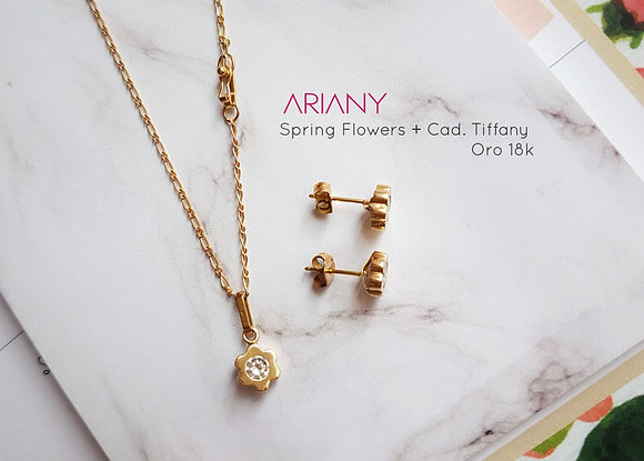 Juego Spring Flowers - Oro 18k
