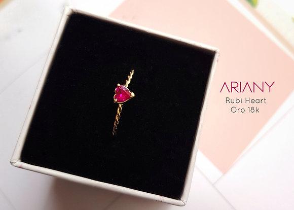 Anillo Rubi Heart - Oro 18k