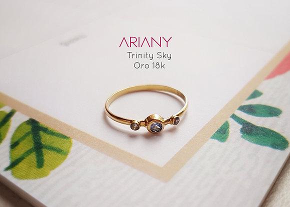 Anillo Trinity Sky - Oro 18k