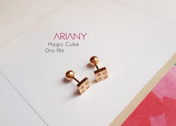 Aretes Magic Cube - Oro 18k