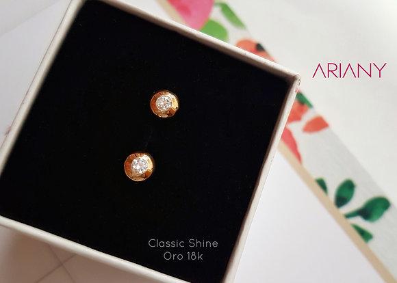 Aretes Classic Shine - Oro 18k