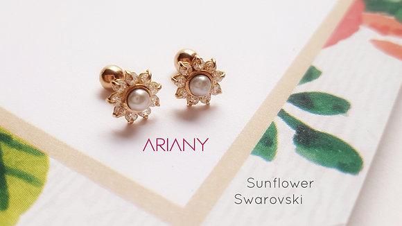 Aretes Sunflower Swarovski