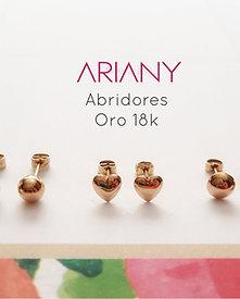 Aretes Abridores Recién Nacida - Oro 18k
