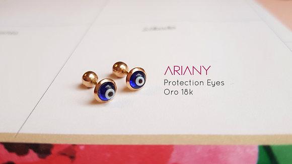 Aretes Protection Eyes - Oro 18k