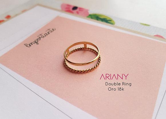 Anillo Double Ring - Oro 18k