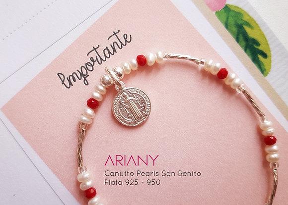Pulsera Canutto Pearls - Plata 925/950