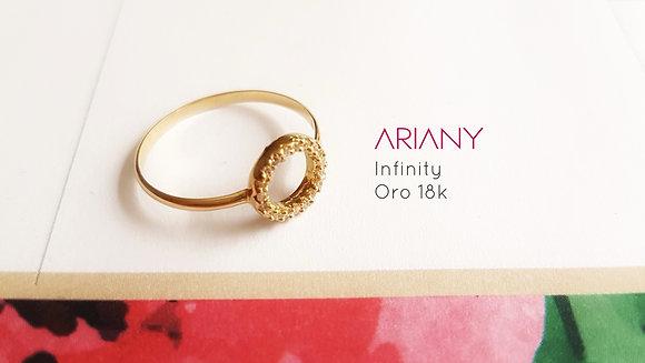 Anillo Infinity (Talla 8) Oro 18k