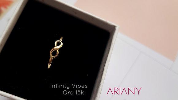 Anillo Infinity Vibes - Oro 18k