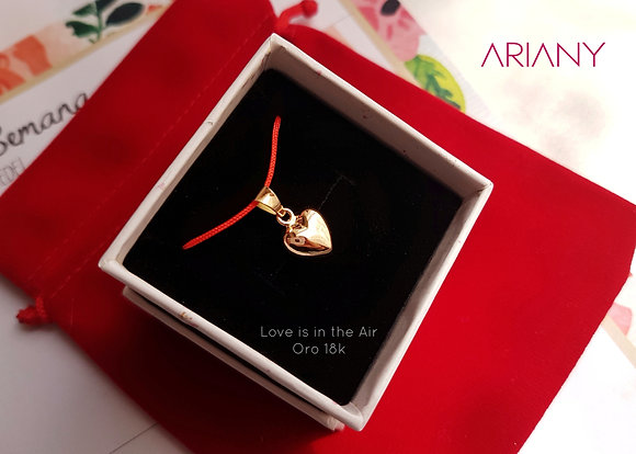 Dije Love is in the Air - Oro 18k