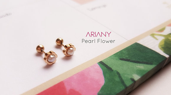 Aretes Pearl Flower
