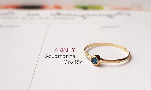 Anillo Sparkle - Aquamarine