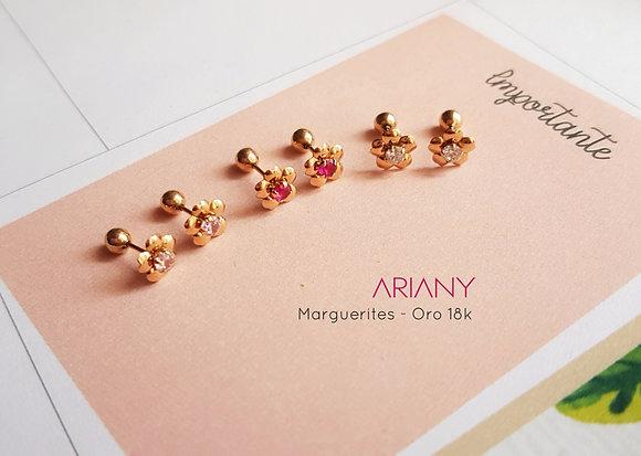 Aretes Marguerite - Oro 18k