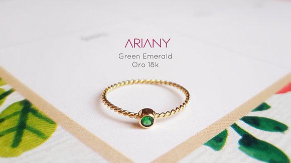 Anillo Sparkle - Green Emerald