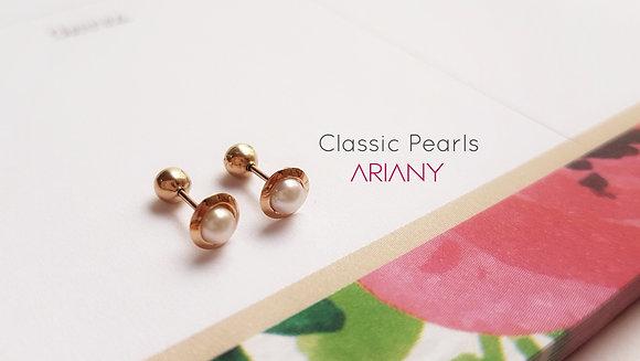 Aretes Classic Pearls