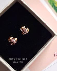 Aretes Baby Pink Bee - Oro 18k