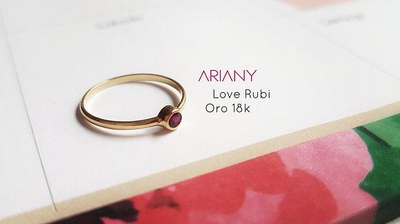 Anillo Sparkle Love Rubi - Oro 18k