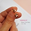 Thumbnail: Aretes Baby Pink Bee - Oro 18k