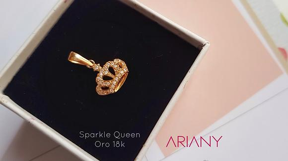 Dije Sparkle Queen - Oro 18k