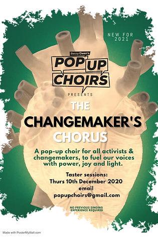 Changemaker's Chorus POSTER Taster Sessi