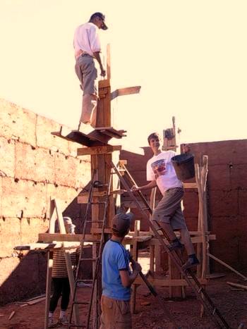 Mur en pisé Maroc
