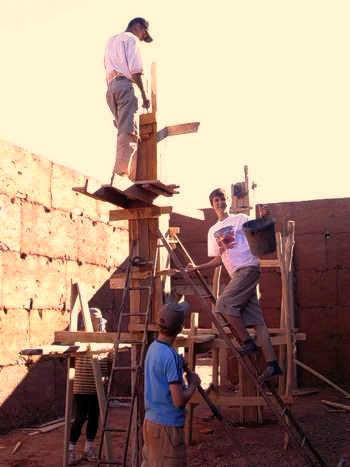 building adobe wall