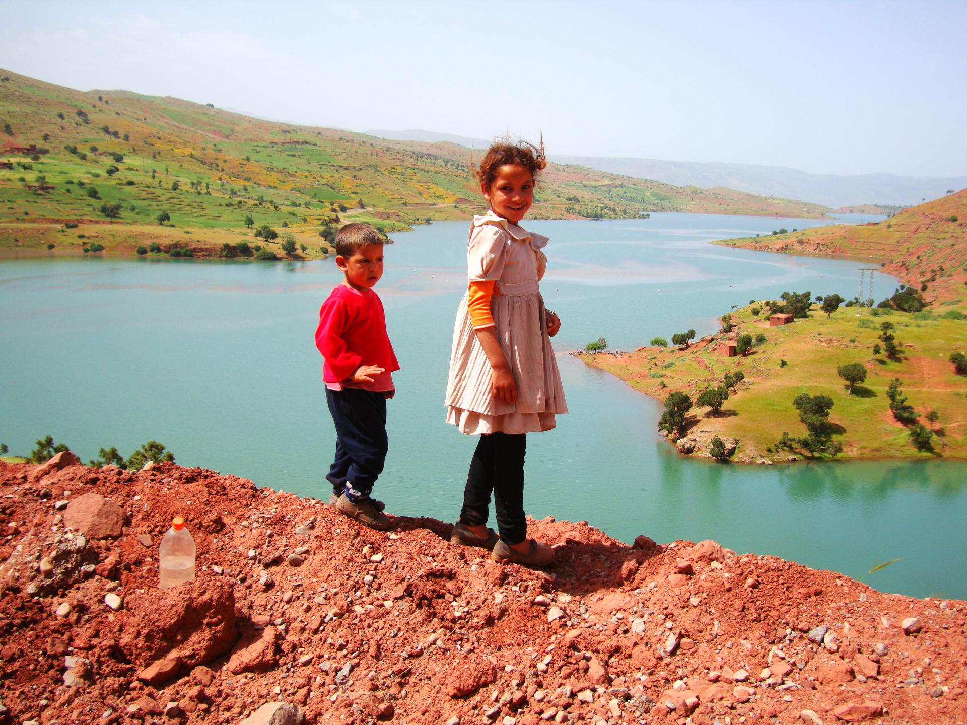 Berber children Bin el ouidane