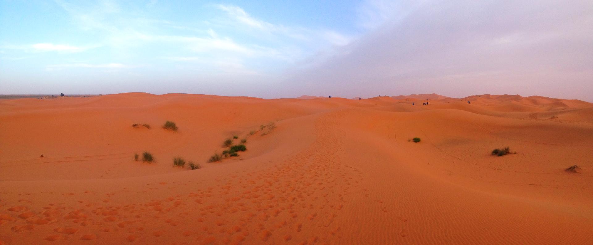 Merzouga的沙丘