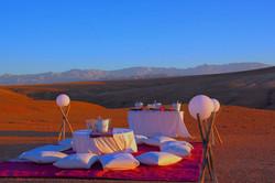 Konferenz in wüsten Agafay