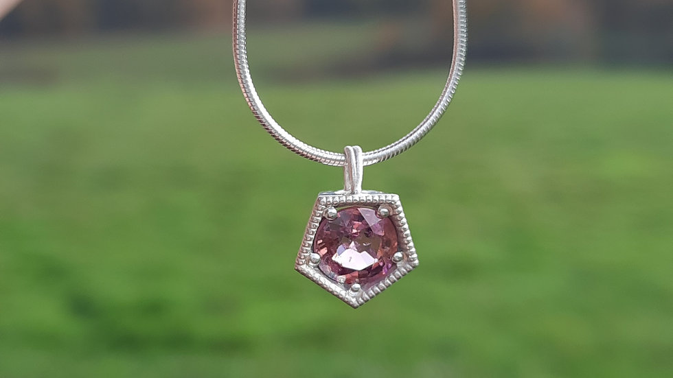 Spinel Pendant/Necklace in Sterling silver