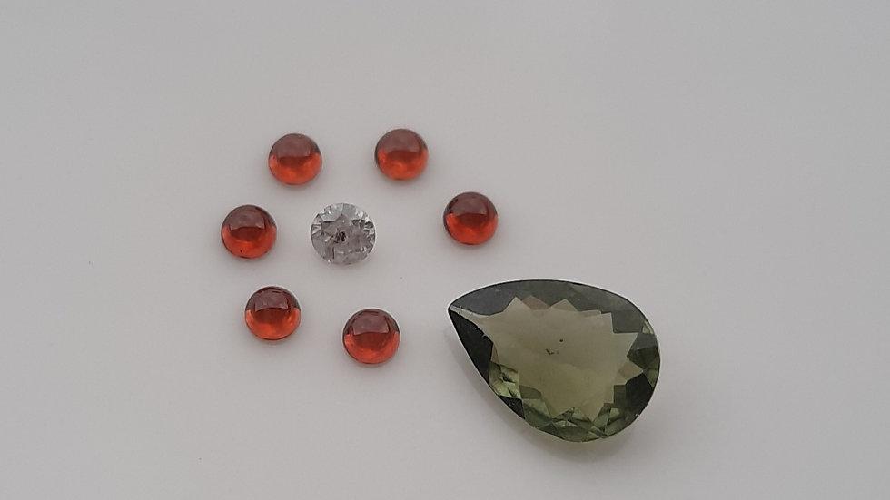 Mixed Gems Lot  12