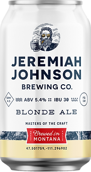Jeremiah Johnson Brewing Company Blonde Ale Craft Beer