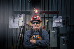 ADF structural steel welder portrait, a hard working blue collar man building the infrastructure of America