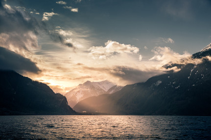 Bute inlet Vancouver British Columbia sunrise